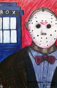 "Rob Hogan ""Friday the 13th Doctor"" Acrylic on Canvas, 36 x 24 inches, 2015"