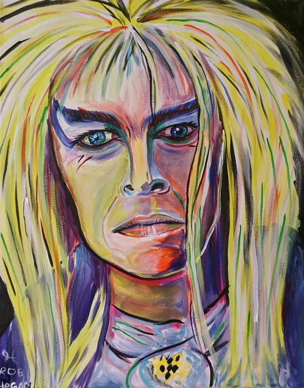"""Rob Hogan """"Jareth"""" Acrylic on Canvas, 20 x 16 inches, 2016"""