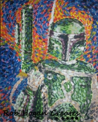 "Rob Hogan ""Gogh Ba Fett"" Acrylic on Canvas, 20 x 16 inches, 2013"