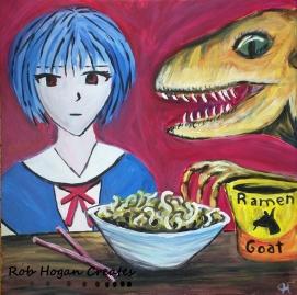 """Rob Hogan """"I Feel Sick"""" Acrylic on Canvas, 24 x 24 inches, 2015"""