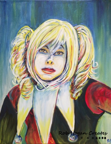 "Rob Hogan ""Harley Cosplay"" Acrylic on Canvas, 20 x 16 inches, 2016"