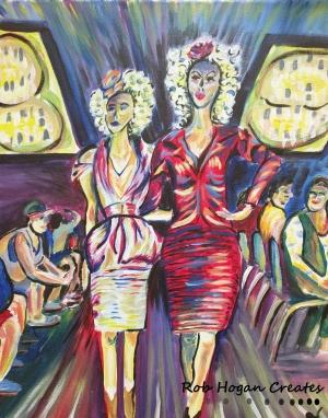 "Rob Hogan ""Effie Duo Cosplay"" Acrylic on Canvas, 20 x 16 inches, 2016"