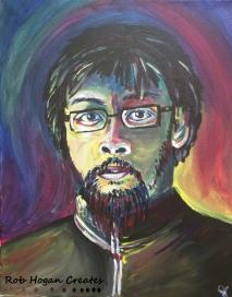 "Rob Hogan ""Ron"" Acrylic on Canvas, 20 x 16 inches, 2016"