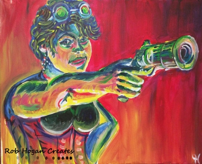 "Rob Hogan ""Julie"" Acrylic on Canvas, 16 x 20 inches, 2016"