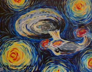 """Rob Hogan """"Impression of a Gogh Trek"""" Acrylic on Canvas, 16 x 20 inches, 2016"""