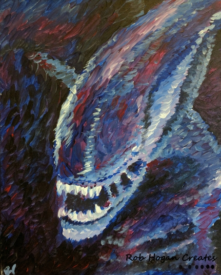 "Rob Hogan ""Impression of a Xeno"" Acrylic on Canvas, 20 x 16 inches, 2015"