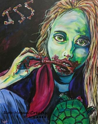 """Rob Hogan """"Enid Cosplay"""" Acrylic on Canvas, 20 x 16 inches, 2016"""