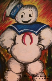"Rob Hogan ""Stay Puft the Carpathian"" Acrylic on Canvas, 36 x 24 inches, 2015"