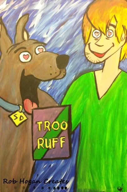 """Rob Hogan """"Troo Ruff"""" Acrylic on Canvas, 36 x 24 inches, 2015"""