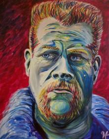 "Rob Hogan ""Abraham"" Acrylic on Canvas, 20 x 16 inches, 2016"