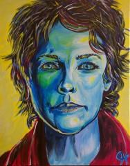 """Rob Hogan """"Carol"""" Acrylic on Canvas, 20 x 16 inches, 2016"""
