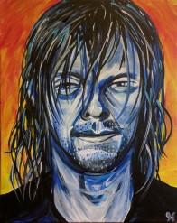 """Rob Hogan """"Daryl"""" Acrylic on Canvas, 20 x 16 inches, 2016"""