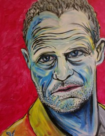 "Rob Hogan ""Merle"" Acrylic on Canvas, 20 x 16 inches, 2016"
