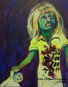 "Rob Hogan ""Tiny Walker Cosplay"" Acrylic on Canvas, 20 x 16 inches, 2016"