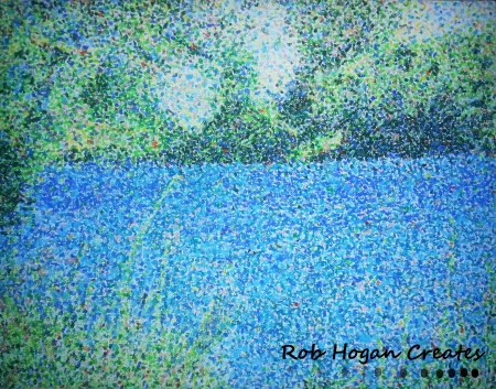 "Rob Hogan, ""Willamette"" Oil Pastel on Canvas Board, 20 x 16 inches, 2013"
