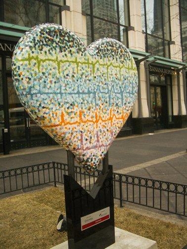 """Rob Hogan """"EKG, My Father"""" Acrylic Paint on Fiberglass Sculpture, 4 x 3 feet, 2011"""