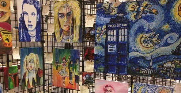 Rob's artwork on display at Capricon 2016 in Wheeling, IL.
