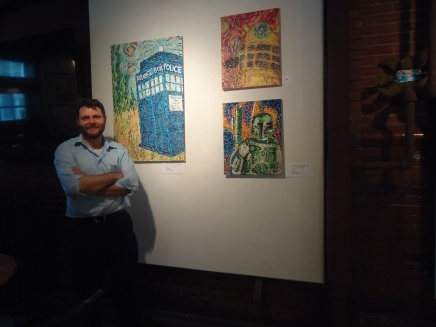Rob at the Old Town Community Center for his solo show.
