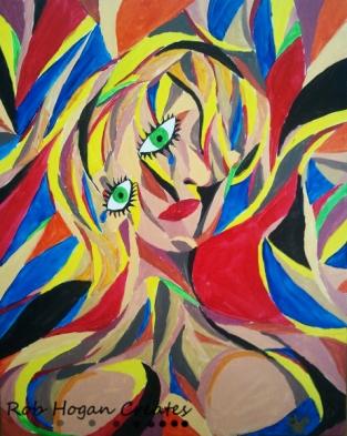 "Rob Hogan ""Crescendo Woman"" Acrylic on Canvas, 30 x 24 inches, 2011"