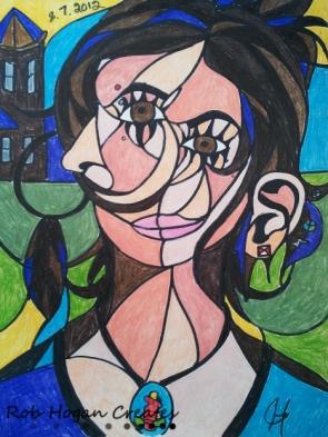 "Rob Hogan ""Sara"" Colored Pencil on Paper, 12 x 9 inches, 2012"